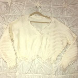 Boutique cropped sweater, NWOT, Small/medium